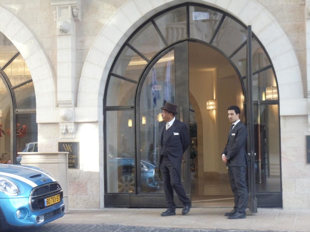 Waldorf Astoria Jerusalem doorman