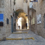 Jaffa alleyways with art galleries Ann Goldberg