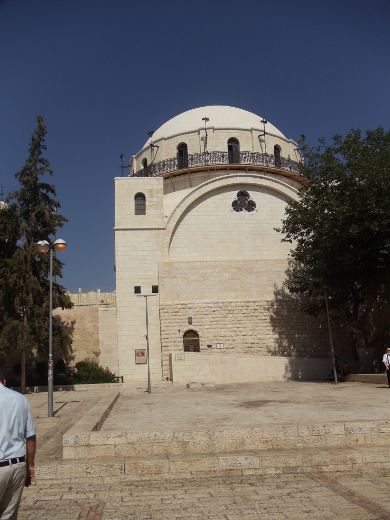 The newly renovated Hurva Synagogue in the Old City of Jerusalem