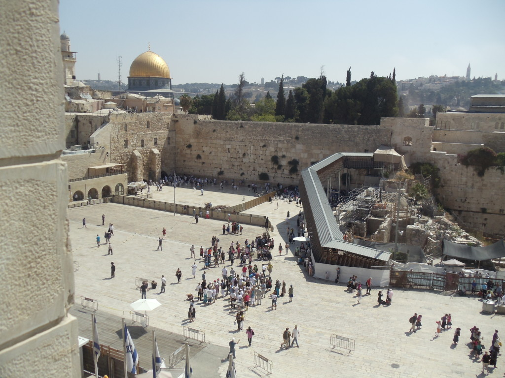 The Kotel HaMaaravi - the Western Wall only remaining wall of the Temple